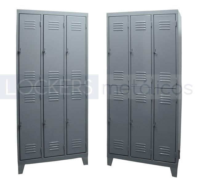 Lockers metálicos de puertas cortas